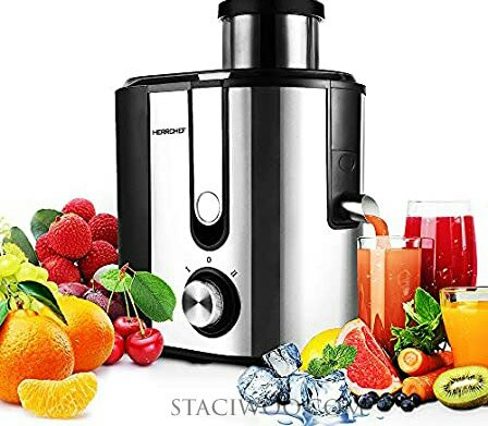 HERRCHEF Juice Extractor 600W with 3'' Wide Mouth, Best heavy-duty juicer